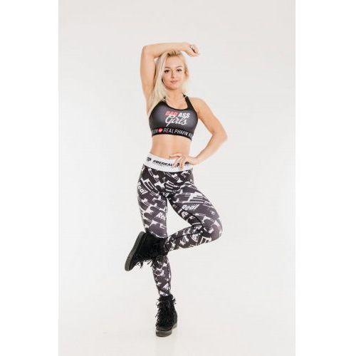 Leginsy sportowe pattern b&w woman, Realpharm