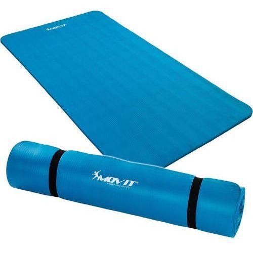 Niebieska mata piankowa 190x60x1,5cm do ćwiczeń / gimnastyki / fitness - niebieski / 190x60x1,5 cm marki Movit ®