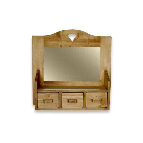 Szafka wisząca z lustrem z drewna świerkowego Mexicana 2 - sprawdź w Seart - Meble z Drewna
