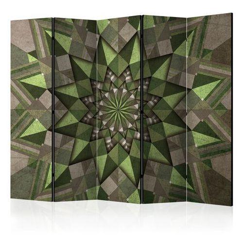 Parawan 5-częściowy - Gwiezdna mandala (zielony) II [Room Dividers] bogata chata, A0-PARAVENT1172