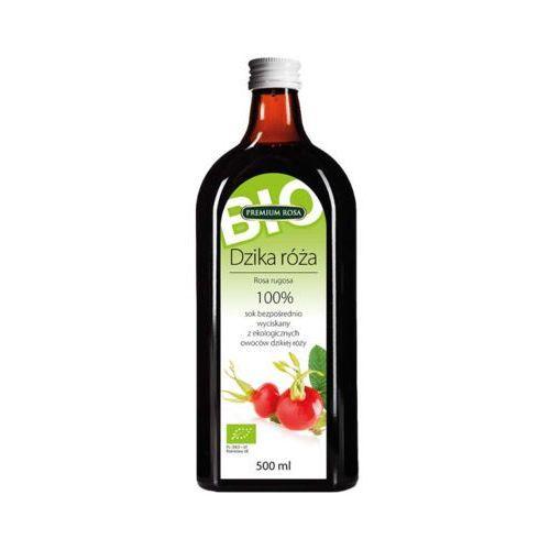 Premium rosa 500ml sok 100% dzika róża bezpośrednio wyciskany bio