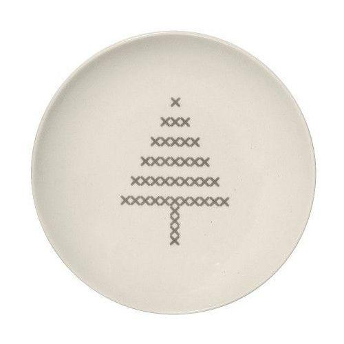 Świąteczny talerzyk z choinką, cross - marki Bloomingville