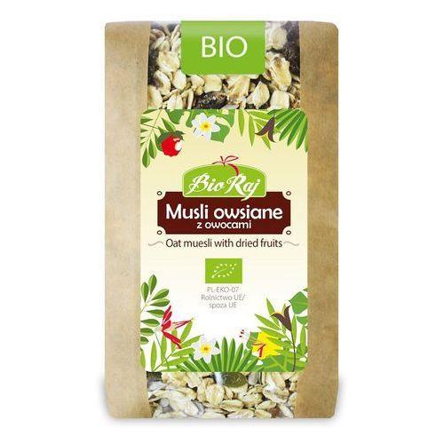 Musli owsiane z owocami bio 300 g - bio raj marki Bio raj (konfekcjonowane)