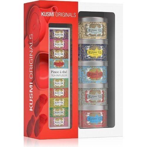 Herbaty originals w zestawie z zaparzaczką 5 x 25g marki Kusmi