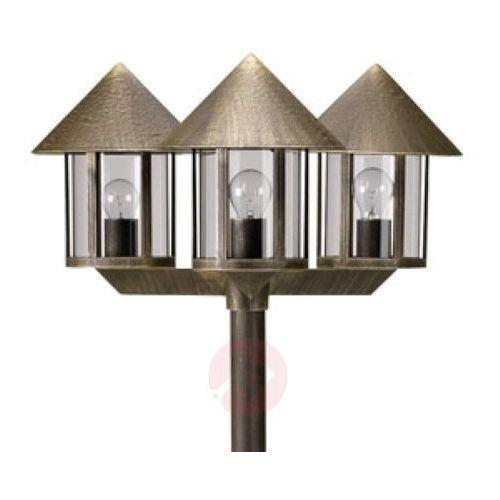 Albert leuchten Maszt oświetleniowy lampione 3-punktowy brązowy (4007235520422)