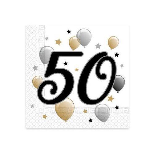 Serwetki na pięćdziesiąte urodziny - 33cm - 20 szt.