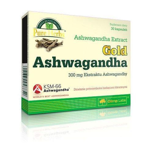 Kapsułki Olimp Ashwagandha Gold 30 kaps. Relaksuje Wzmacnia organizm 048852