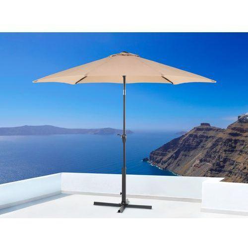Parasol ogrodowy - mokka - ø 267 cm - metalowy - varese marki Beliani