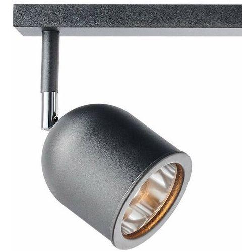 Plafon lampa sufitowa spark 50787208 metalowa oprawa regulowane reflektorki półokrągłe na listwie grafitowe marki Kaspa