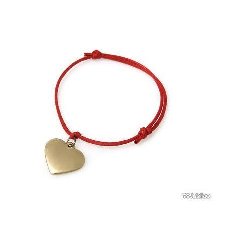 BRANSOLETKA SERCE ZŁOTE CZERWONA kolor złoty serduszko kolor czerwony glamour, ar711