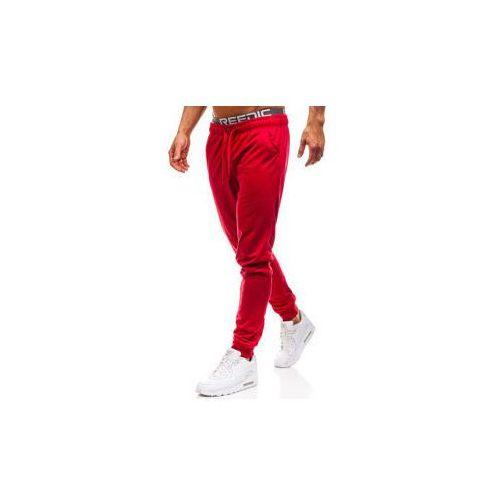 Spodnie męskie dresowe joggery czerwone denley kk303 marki J.style