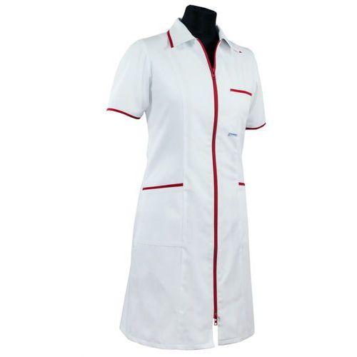 Dlapacjenta.pl - odzież medyczna Sukienka medyczna damska (zamek, lamówka) 201+ (dla lekarza)