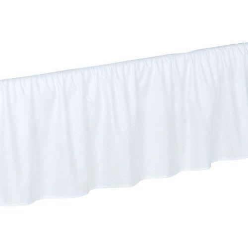 Mamo-tato falbanka do łóżeczka biała