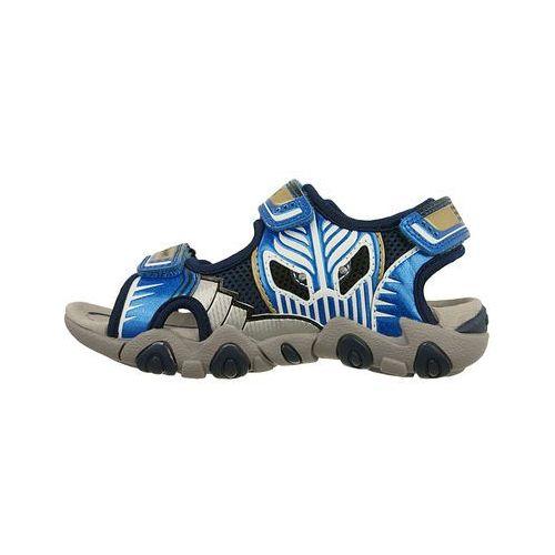 GEOX J7224B SAND.STRIKE B 00CE14 C0693 morski/ j.niebieski, rozmiary: 28-31, sandały dziecięce, kolor zielony