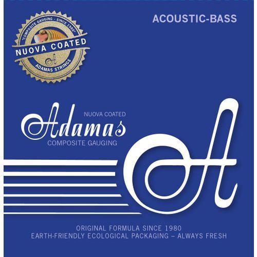 Adamas 5300nu-ml (669610) struny do basu akustycznego nuova coated / powlekane zestaw 4-string med-light