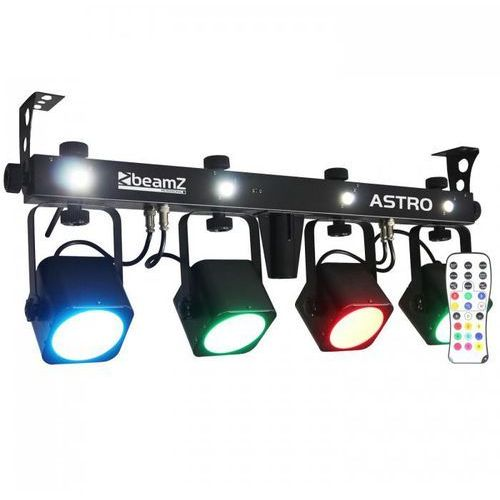 Beamz Led astro parbar 4-drożny kit cob 4 x 10w led dmx przełącznik nożny