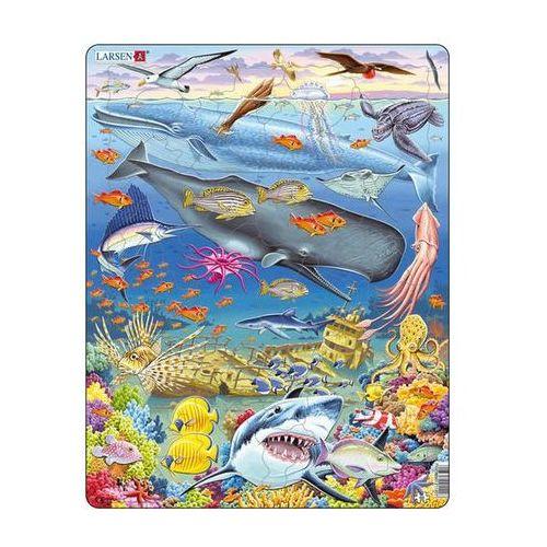 Neuveden Puzzle maxi - velryba,žralok a titanik/65 dílků