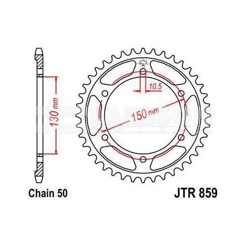 Zębatka tylna stalowa JT 859-48, 48Z, rozmiar 530 2300831 Yamaha YZF 600, GTS 1000