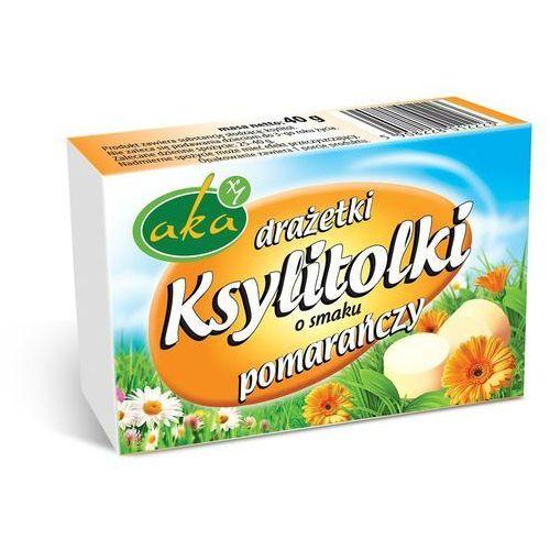Aka Ksylitolki drażetki pudrowe pomarańczowe 40g b/c