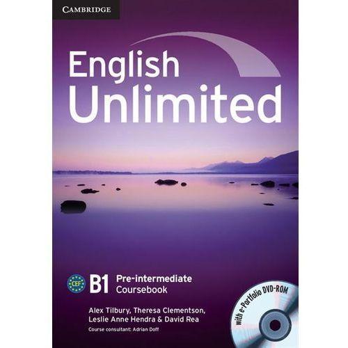 English Unlimited Pre-intermediate Coursebook (podręcznik) with e-Portfolio