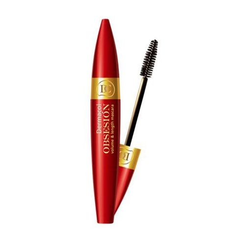 obsesión volume and length mascara | wydłużający tusz do rzęs zwiększający objętość kolor czarny 6g marki Dermacol