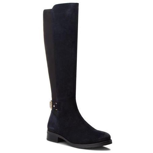 Oficerki - th buckle high boot fw0fw03065 midnight 403, Tommy hilfiger, 36-42