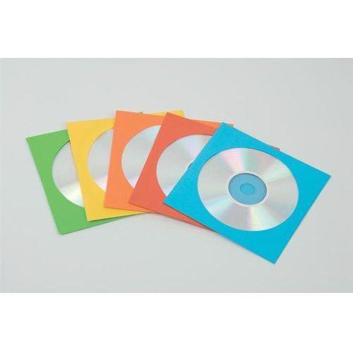 Koperty z okienkiem na płyty cd/dvd, kolorowe, 50 sztuk - kolorowe, marki Fellowes