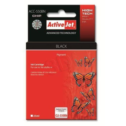 Activejet tusz ACC-550BN / PGI-550BK (black) Szybka dostawa! Darmowy odbiór w 20 miastach!, EXPACJACA0121
