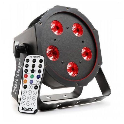 Beamz bfp120 projektor flatpar led 4-w-1 5x 8 w rgbw led dmx pilot na podczerwień