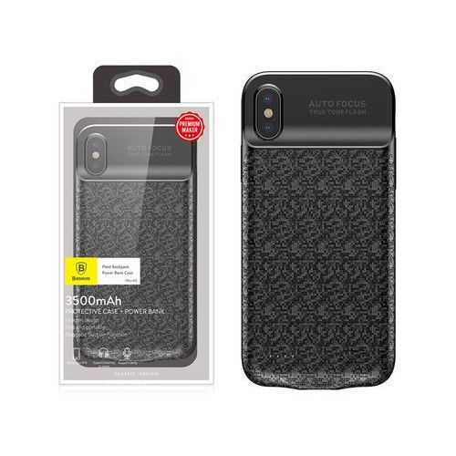 Baseus Etui z baterią 3500mAh Apple iPhone X Xs Power bank - Czarny, kolor czarny