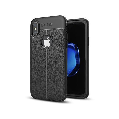 Etui pancerne Alogy leather case - Apple iPhone X czarne, kolor czarny