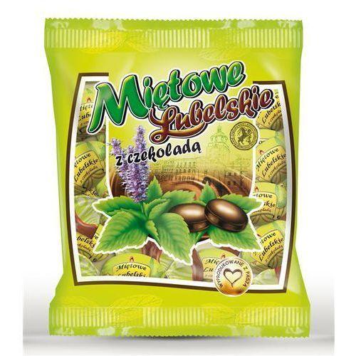 Miętowe lubelskie z czekoladą 100g marki Fabryka cukierków pszczółka sp.