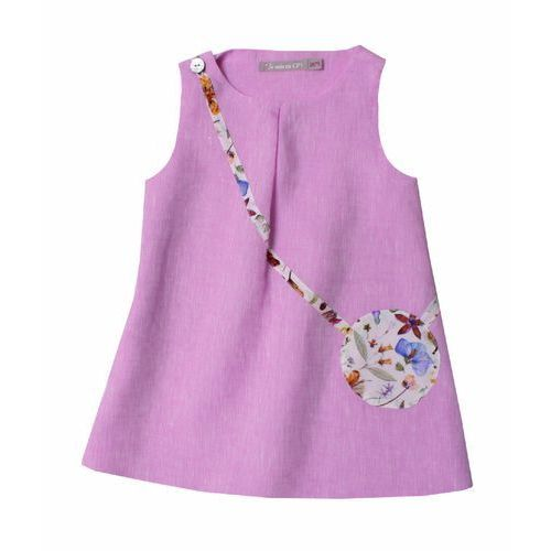 JE SUIS EN CP Sukienka Like Mummy różowa z kieszonką (sukienka dziecięca)
