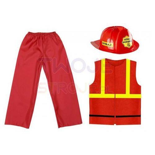 317941deccf9a5 Strój strażak 116-128 3el marki Twojestroje.pl 43,99 zł STRÓJ STRAŻAKW  skład stroju strażackiego wchodzą:- czerwony hełm strażacki- czerwona  kamizelka ...