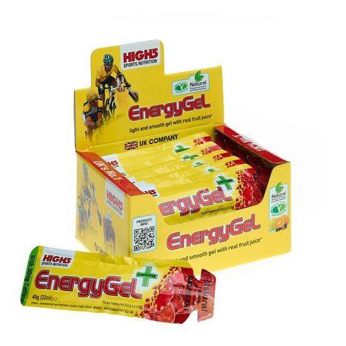 High5 EnergyGel Plus Żywność dla sportowców Raspberry 20 x 40g 2018 Zestawy i multipaki (5027492999181)