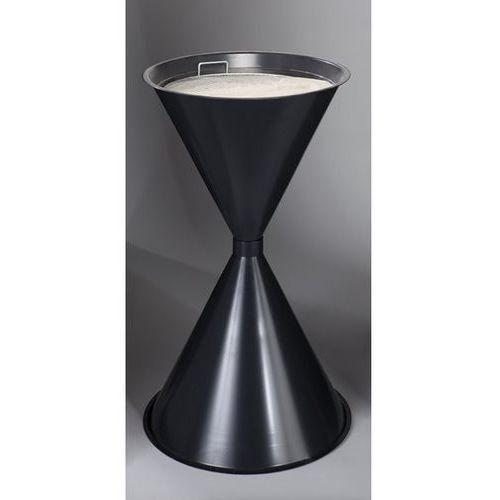 Stożkowa popielniczka stojąca, blacha stalowa, lakierowana proszkowo, antracytow marki Var fahrzeug- und apparatebau
