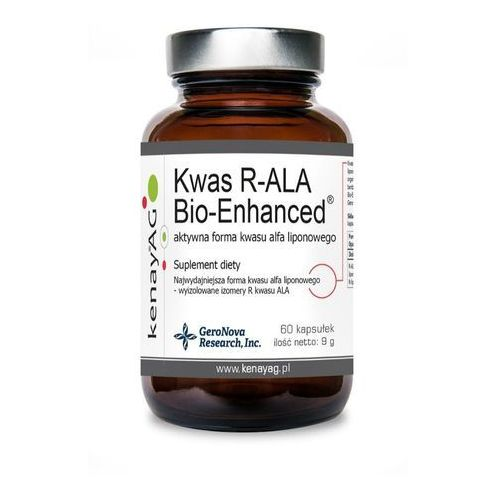 Kenay Kwas R-ALA Bio-Enhanced aktywna forma kwasu liponowego 60 kapsułek - suplement diety (5900672152517)