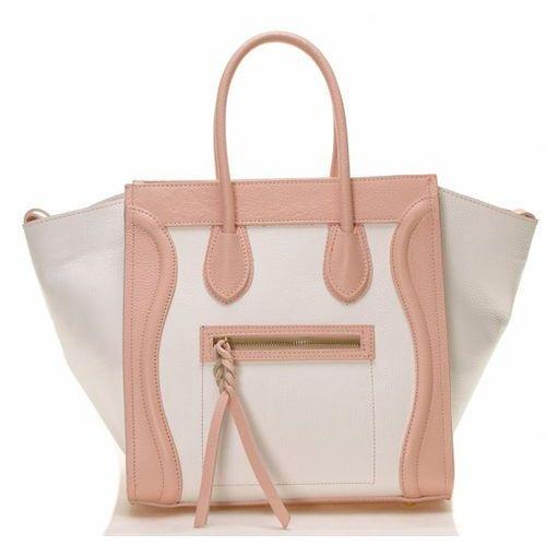 Biało różowa torebka celine marki Evien