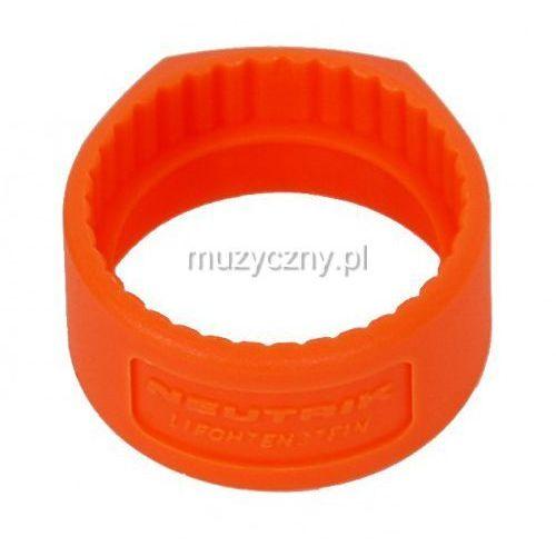 Neutrik pcr 3 pierścień na złącze np*c* (pomarańczowy)