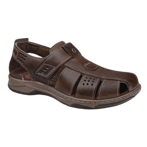 Brazylijskie sandały 132201-03 cravo brązowe półbuty na lato - brązowy marki Pegada