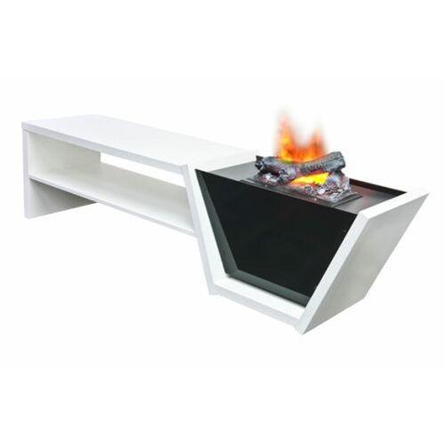 """Zestaw kominek vision + stolik rtv - 3d z parą """"efekt dymu"""" + syntetyzator gratis - promoca marki Dimplex - najlepsze ceny"""