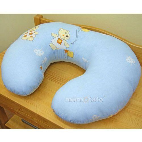"""Mamo-tato poszewka na poduszkę do karmienia """"rogal"""" baloniki błękitne"""
