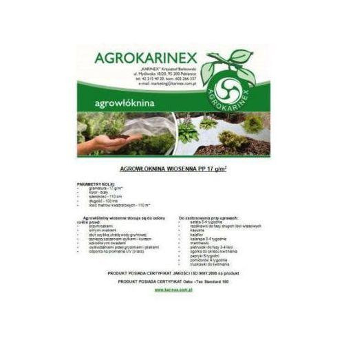 Agrowłóknina wiosenna PP 17 g/m2 biała 1,1 x 100 mb. Rolka o wadze 2,4 kg. (folia i agrowłóknina)