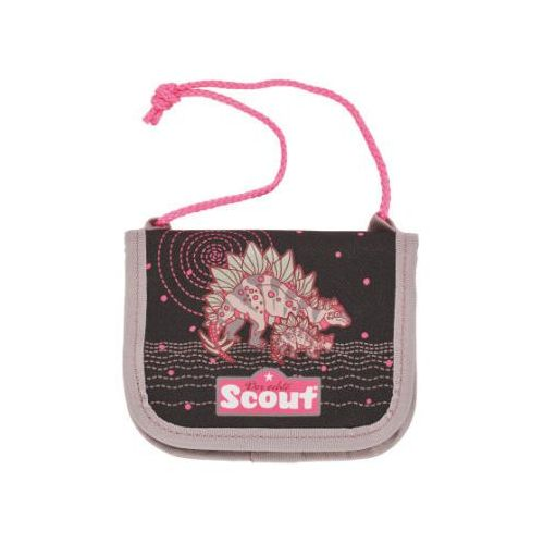 Scout portfel iii - pink dino