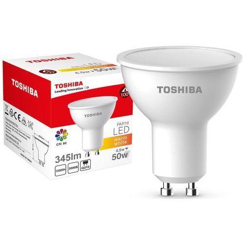 Żarówka LED TOSHIBA PAR16 4.5W (50W) 345LM 3000K 80RA ND 120D GU10