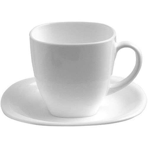 Komplet kawowy Carine White & Black 220 ml 12-elementowy LUMINARC