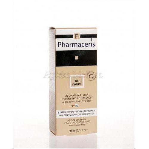 PHARMACERIS F Delikatny fluid intensywnie kryjący SPF 20 ivory 01 (kość słoniowa) - 30 ml (podkład, korektor)