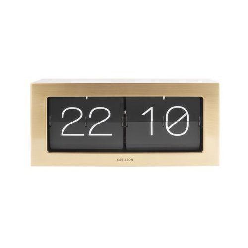 Karlsson Zegar stołowo/ścienny flip clock boxed xl gold by