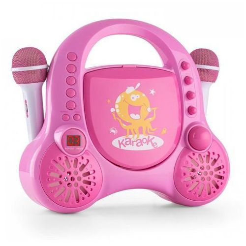 Rockpocket-a pk karaoke dla dzieci 2 mikrofony akumulator rozowy marki Auna