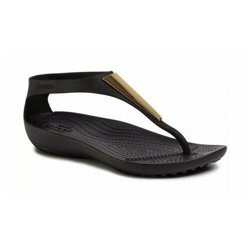 Crocs Sandały damskie japonki serena metallic czarne